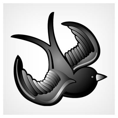 وکتور لایه باز پرنده سیاه (Black Bird Vector) با فرمت های eps و ai
