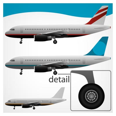 وکتور لایه باز هواپیمای مسافربری با فرمتهای ai و eps