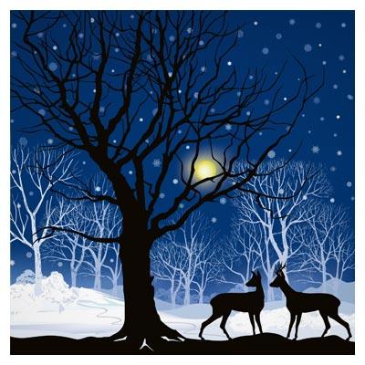 دانلود وکتور منظره کارتونی زمستانی بصورت لایه باز با فرمتهای ai و eps