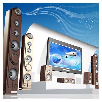 دانلود رایگان فایل psd لایه باز اسپیکرهای پخش موسیقی