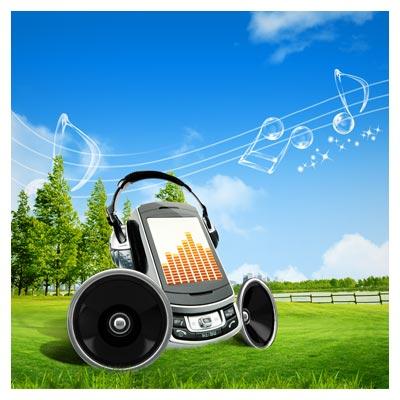 دانلود PSD با موضوع موسیقی در طبیعت (نت طبیعت) شامل المان های لایه باز