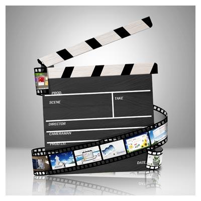 طرح لایه باز کلاکت سینمایی با فرمت psd و کیفیت بالا
