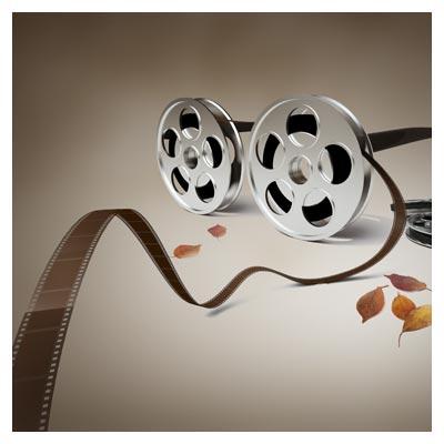 فایل لایه باز سینمایی (PSD) با المان رول فیلم
