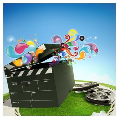 فایل psd جعبه سینمایی شامل کلاکت ، رول فیلم و ... بصورت لایه باز