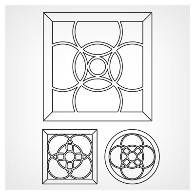 دانلود سه طرح لایه باز وکتوری پنجره های مشبک ، مناسب برای برش لیزر و cnc
