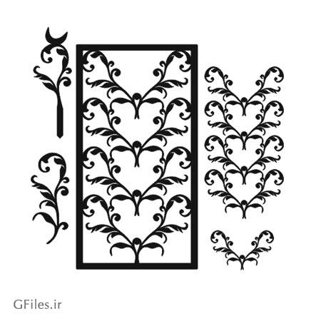 دانلود فایل رایگان لیزر و برش با طرح گل های Floral بصورت لایه باز
