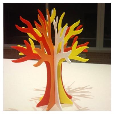 الگوی سه بعدی درخت فانتزی با امکان ساخت و برش لیزر و CNC
