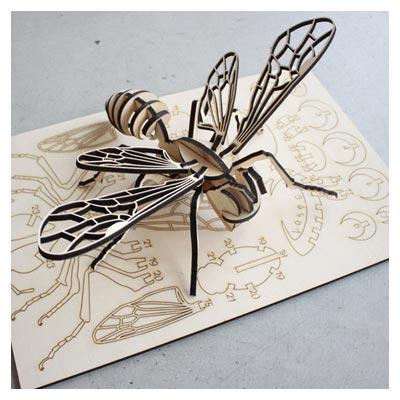 پازل سه بعدی زنبور اسباب بازی با امکان ساخت با چوب یا MDF