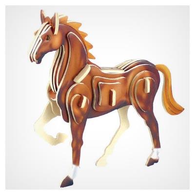 طرح آماده پازل اسب با امکان ساخت (با قابلیت برش لیزر و cnc)