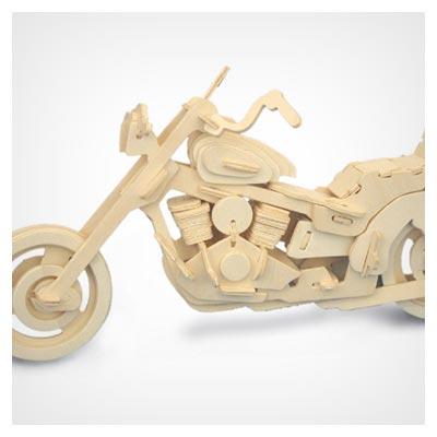 الگوی آماده و پازل سه بعدی موتورسیکلت با قابلیت ساخت