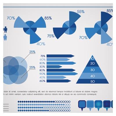 فایل وکتوری اینفوگرافیک نموداری و اطلاعاتی بصورت لایه باز (Business Data graph vector)
