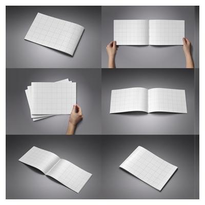 دانلود مجموعه 6 حالت متنوع پیش نمایش (موکاپ) کاتالوگ با فرمت psd لایه باز