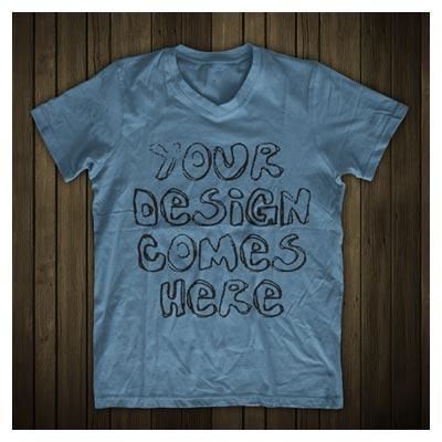 دانلود موکاپ نمایش متن یا لوگو روی تی شرت (لایه باز PSD)