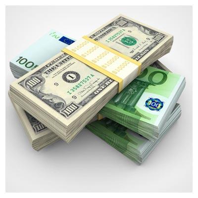 عکس با کیفیت اسکناس دلار و یورو با فرمت jpg