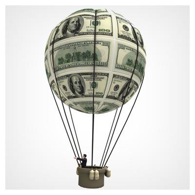 عکس با کیفیت بالون دلار (عکس رایگان دلار)