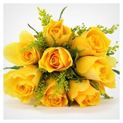 عکس با کیفیت دسته گل بسیار زیبا از گل های رز زرد