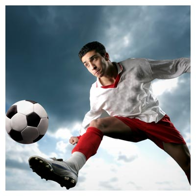 عکس با کیفیت شاتراستوک از بازیکن فوتبال (فوتبالیست)
