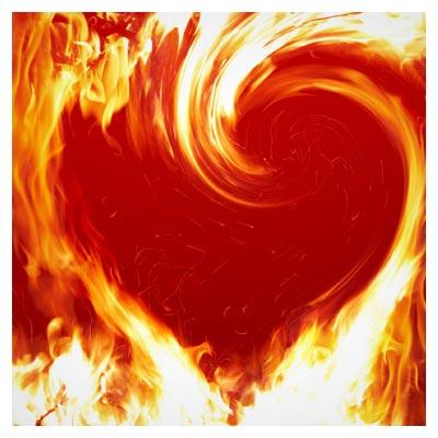 پس زمینه با طرح شعله های آتش زرد و قرمز