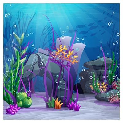دانلود پس زمینه کارتونی آکواریوم و اقیانوس با فرمتهای لایه باز eps و ai