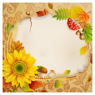 بنر بسیار زیبای لایه باز با طرح گل های آفتابگردان ، لایه باز با پسوندهای eps و ai