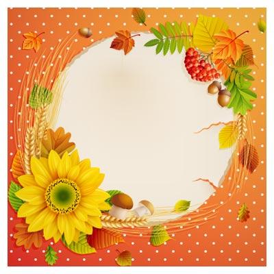 دانلود بنر و پس زمینه لایه باز با طرح گل آفتابگردان ، لایه باز ، با دو فرمت eps و ai