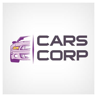 لوگوی آماده با طرح ماشین و خودرو بصورت لایه باز وکتوری