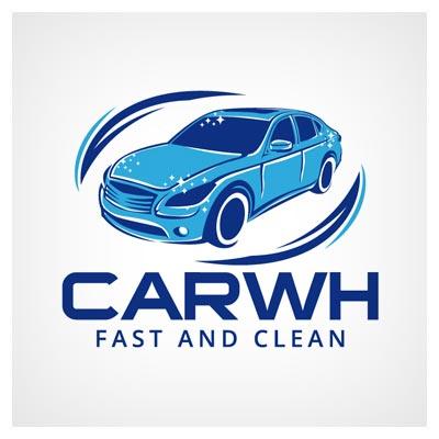 لوگوی وکتوری لایه باز با طرح کارواش (Carwash Logo Design Vector) ارائه شده با فرمتهای eps و ai