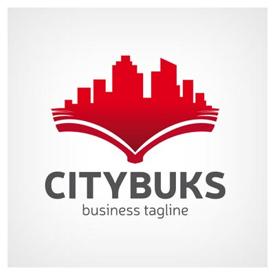لوگوی لایه باز آماده با موضوع شهر کتاب ، ارائه شده با فرمت های وکتوری ai و eps