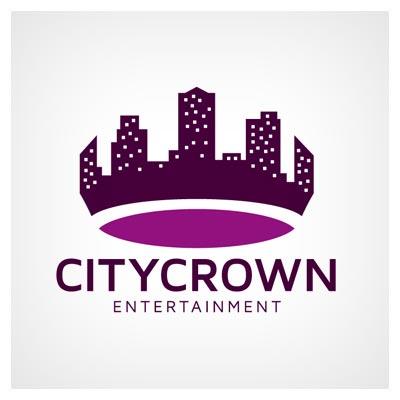لوگوی آماده وکتوری با طرح و موضوع تاج شهر (شهر برتر) با دو فرمت eps و ai لایه باز