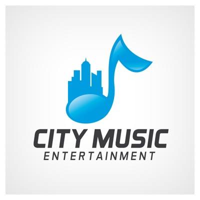 لوگوی آماده وکتوری با موضوع شهر موزیک (موزیک شهر) بصورت لایه باز با دو فرمت eps و ai