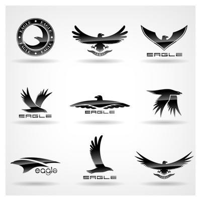 دانلود فایل وکتور مجموعه لوگوهای متنوع با طرح عقاب (Eagles Logo Design Vector)