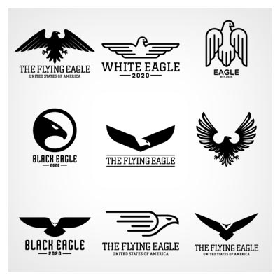 مجموعه لوگو و نمادهای آماده با طرح عقاب (Eagles Logo) بصورت لایه باز وکتوری