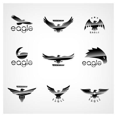 مجموعه لوگوهای آماده با طرح عقاب بصورت وکتور و لایه باز