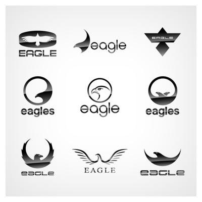 وکتور مجموعه لوگوهای آماده لایه باز با طرح عقاب (Eagles Logo Vevtor)