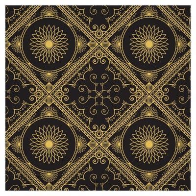 پس زمینه و پترن مشبک تذهیبی بصورت لایه باز وکتوری (Luxury gold gorgeous patterns)