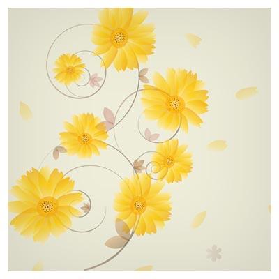 بکگراند لایه باز با طرح گل های زیبای مینا بصورت وکتوری (پسوندهای eps و ai)