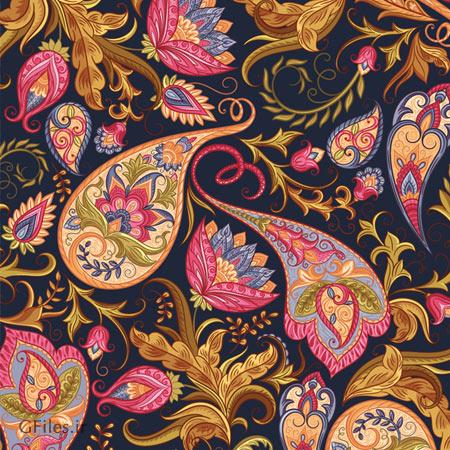 پس زمینه لایه باز با بافت بسیار زیبای ترمه (بته جقه و ترنج سنتی) با فرمت های eps و ai