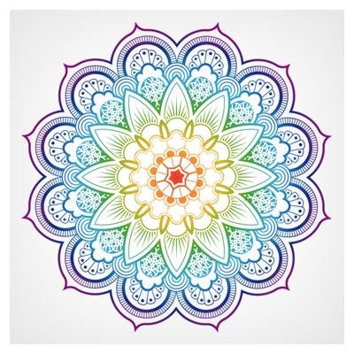 وکتور دوار ماندالا بصورت لایه باز (Floral mandala vector)