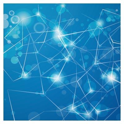 وکتور پس زمینه با تم رنگی آبی و طرح مشبک (لایه باز eps و ai)