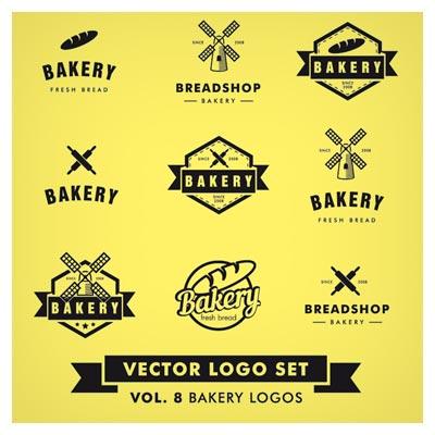 دانلود مجموعه لوگو و نماد با طرح گندم و نانوایی (لوگوی نانوایی) بصورت لایه باز (eps و ai)