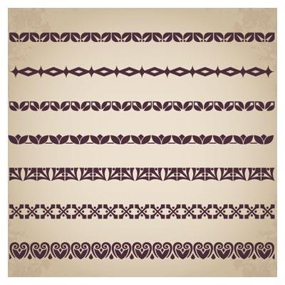 وکتور لایه باز مجموعه کنگره و حاشیه سنتی با الگوی تکرار شوندگی (پترن)