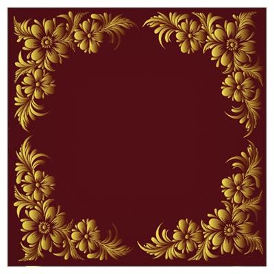 وکتور قاب و کادر با طرح گلهای فلورال (Floral Frame Vector)