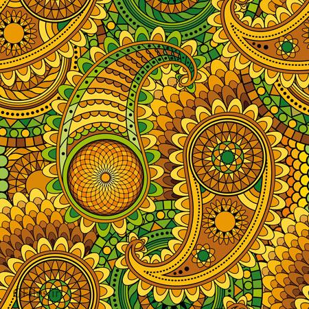 فایل وکتور پس زمینه با طرح گل های ترنج و ترمه (بته جقه) با رنگ های جذاب
