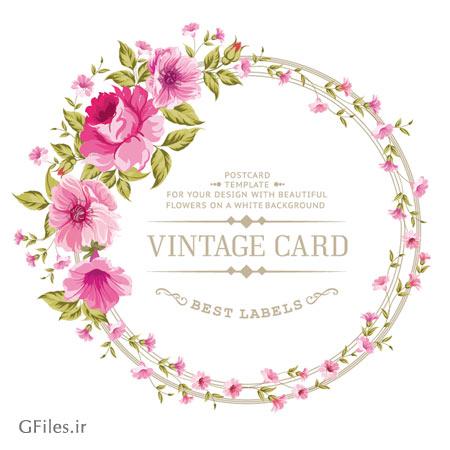 دانلود فایل آماده کارت پستال با طرح گل های رز زیبا ، لایه باز با دو فرمت eps و ai