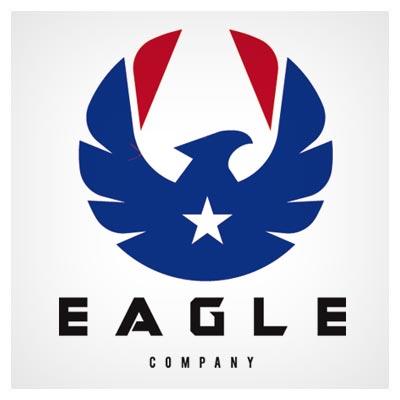 وکتور لایه باز نماد و لوگوی شاهین و عقاب با بالهای گشوده (eps و ai)