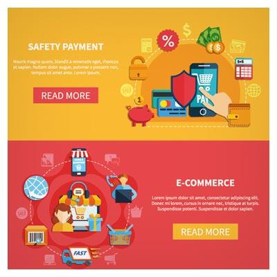 دانلود بنر لایه باز وکتوری با موضوع امنیت در خریدهای دیجیتالی