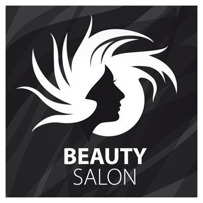 لوگوی آماده نگاتیو با موضوع سالن زیبایی (Beauty Salon Logo)