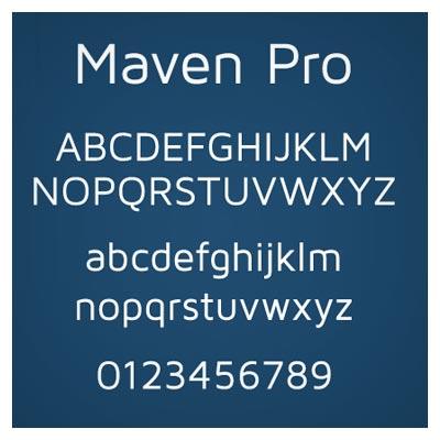 دانلود فونت رایگان Maven Pro از سری فونت های کلاسیک انگلیسی