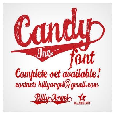 فونت رایگان انگلیسی Candy با فرمت otf
