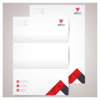 دانلود فایل psd لایه باز سربرگ اداری ، با تم رنگی قرمز ، ارائه شده در دو سایز a4 و a5